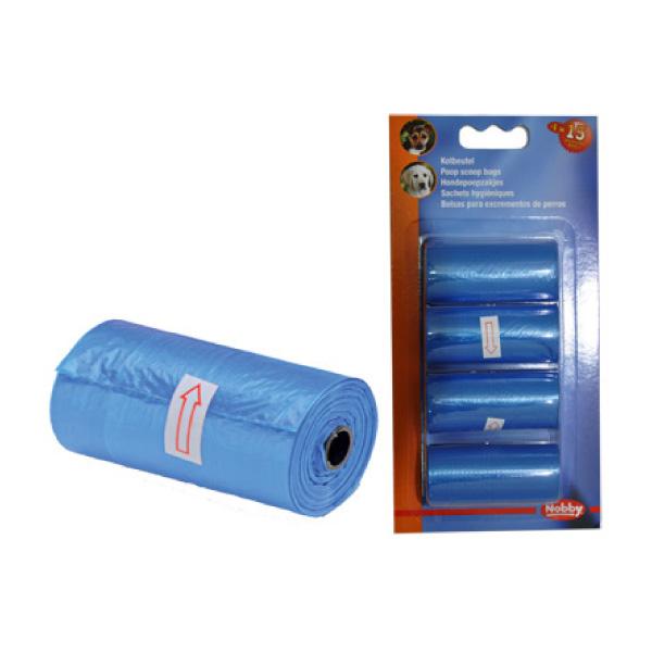 Nobby vrečke za pasje iztrebke Refil 4 x 15kos - modre