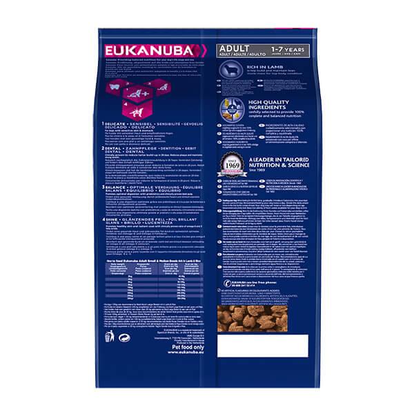 Eukanuba Adult Small/Medium - jagnjetina in riž - 12 kg