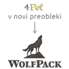 4Pet / WolfPack goveji uhlji s školjko - 10 kos