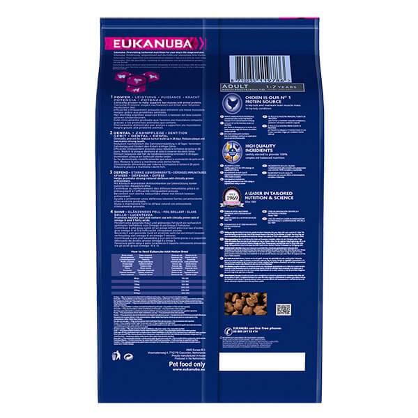 Eukanuba Adult Medium - piščanec - 15 kg