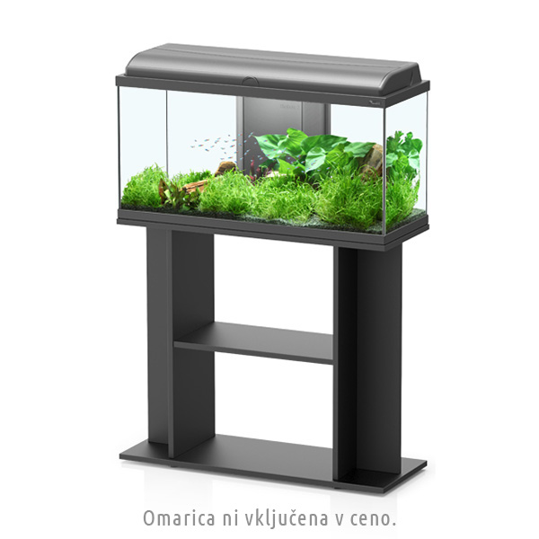 Akvarij Aquatlantis Aquadream LED 80 (108 L), črn - 80 x 30 x 45 cm
