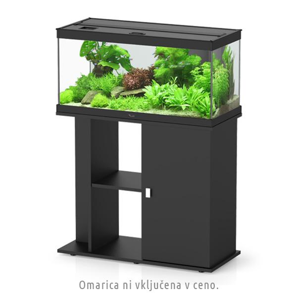 Akvarij Aquatlantis Style 80 (112 L), črn - 80 x 35 x 40 cm