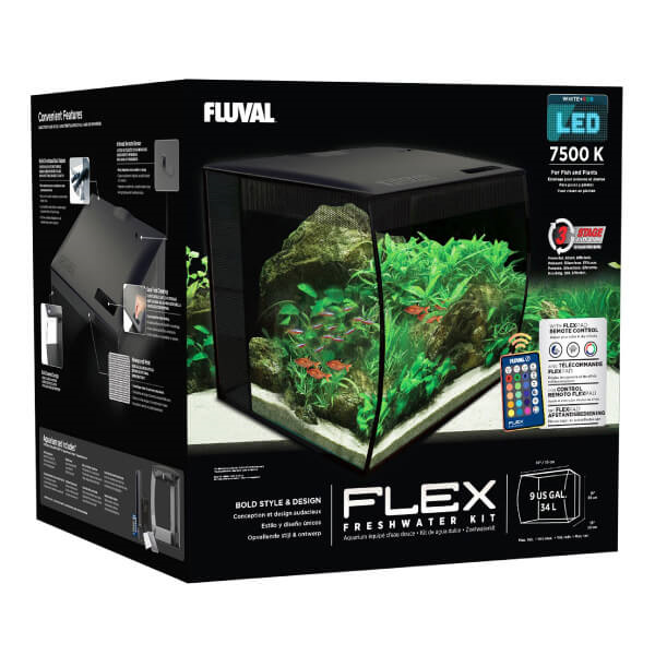 Akvarijski set Fluval Flex, ukrivljeno steklo - 57 L