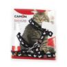 Camon oprsnica+povodec za mačke Maca Big Cat, rdeča/modra/črna