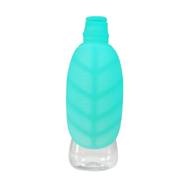 United Pets potovalna steklenica Leaf, akvamarin - 500 ml