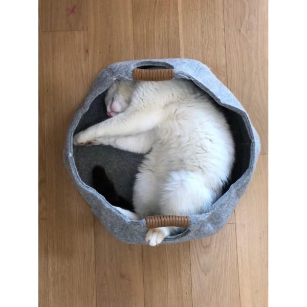 Beeztees ležišče za mačke gnezdo, turkizna - 43,5 cm