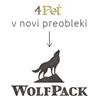 4Pet / WolfPack kunčji uhlji z dlako - 10 kos