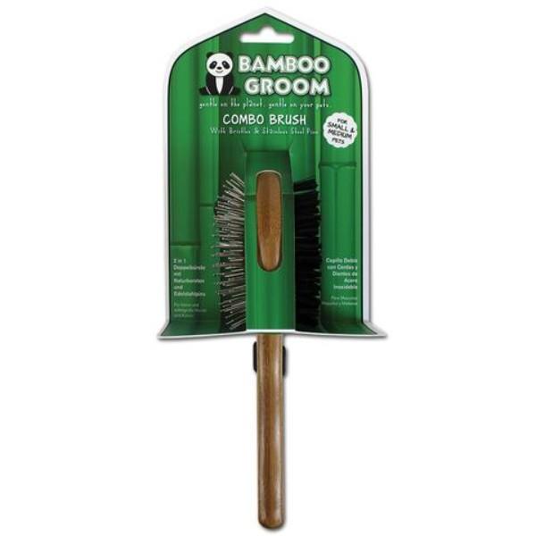 Bamboo krtača ravne igle z bunkicami + žima, S/M