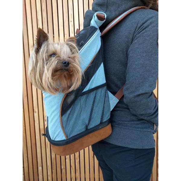 Camon nahrbtnik za psa do 5 kg, denim - 20 x 23 x 42 cm