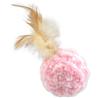 Magic Cat žoga + perje z mačjo meto, mix - 14 cm