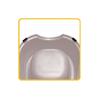 Stefanplast posoda Break - roza/sivo modra - 22 x 22 x 8 cm
