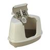 Moderna kotni pokriti WC Flip Corner, siv - 55,7 x 45 x 38 cm