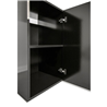 Aquatlantis set z omarico Aqua Tower 163 Pro LED 2.0, črn sijaj - 50 x 50 x 66 cm