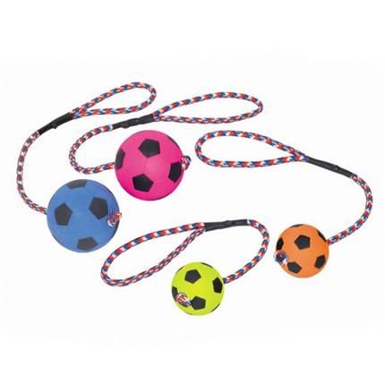 Nobby Moosgummi nogometna žoga na vrvi - 6 cm