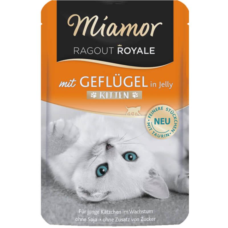 Miamor Ragu Royal Kitten - perutnina v želeju - 100 g