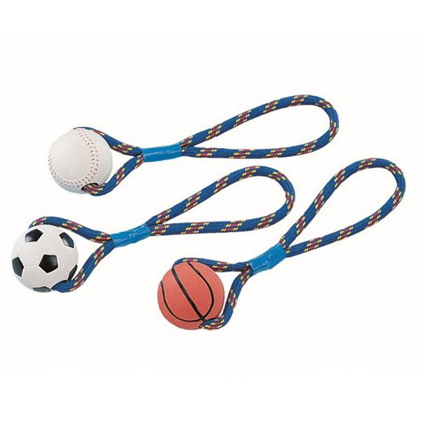 Nobby gumijasta žoga na vrvi - 8 cm