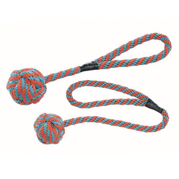 Nobby pletena, plavajoča žoga z vrvjo - 40 cm