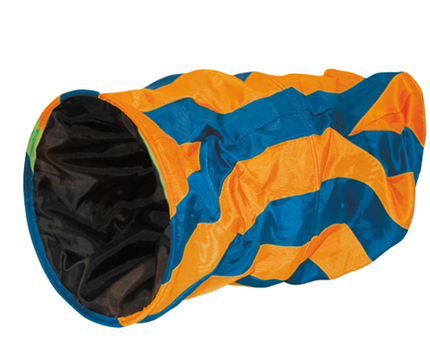 Nobby tunel za muce, modra/oranžna - 50 x 25 cm
