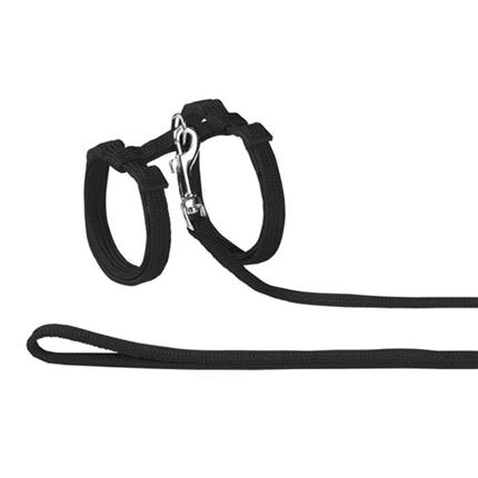 Nobby oprsnica + povodec za muce, črna
