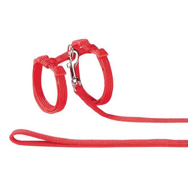 Nobby oprsnica + povodec za muce, rdeča