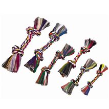 Nobby igralna vrv z dvema vozloma, mix - 180 g
