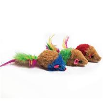 Nobby miš z zvončkom + perje - 5 cm
