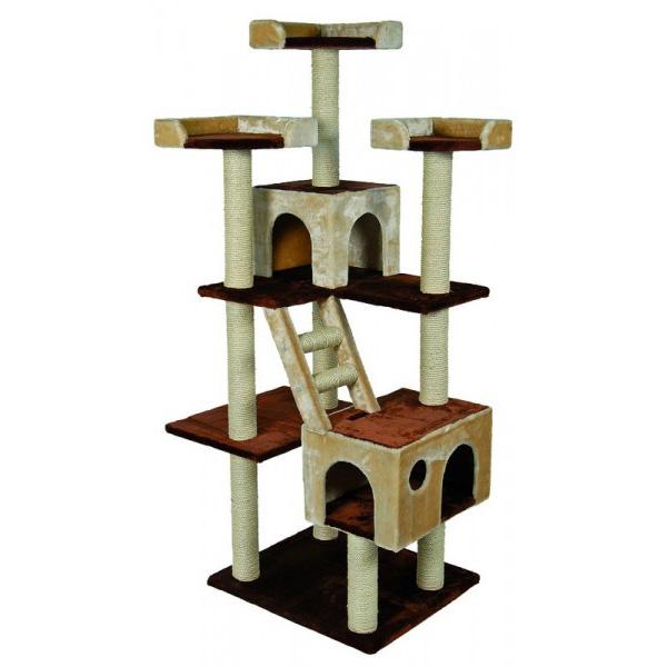 Nobby Orlando praskalnik za mačke, bež - 70 x 60 x 185 cm