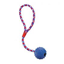Nobby bodičasta žoga z zvončkom in vrvjo - 7 cm