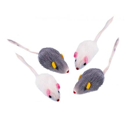 Nobby krznena miš, 4 kos - 5 cm