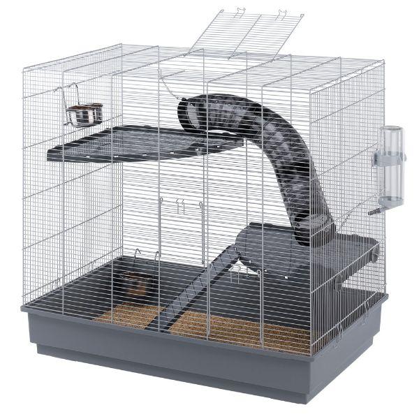 Ferplast kletka za podgane jrnny, siva – 80 x 50 x 37 cm