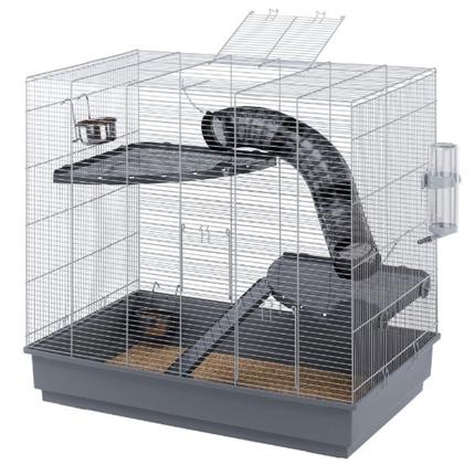 Ferplast kletka za podgane Jenny, siva – 80 x 50 x 37 cm