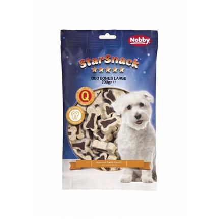 Nobby Starsnack Duo kosti, jagnjetina in riž, velike – 200 g