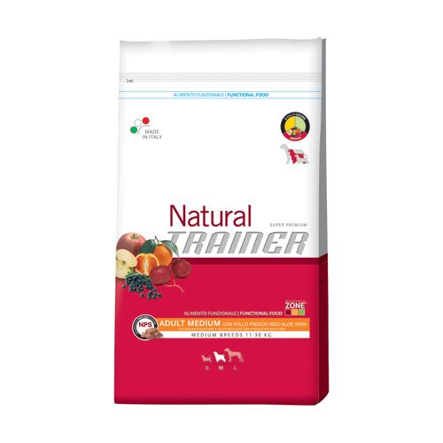 Trainer Natural Adult Medium - piščanec, riž in aloa - 12,5 kg