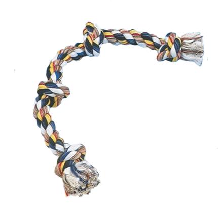Igralna vrv s štirimi vozli, barvna - 260 g