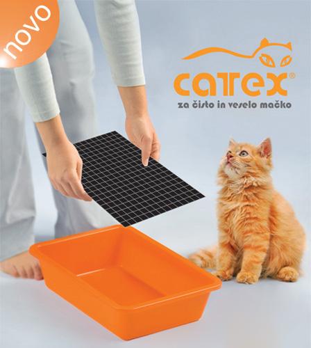 Cattex podloga+mrežica za mačji WC, 2 kos - 24 x 34 cm