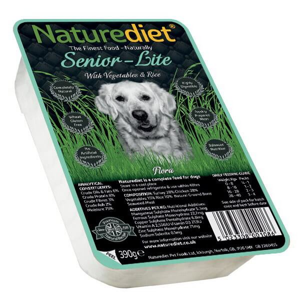 Naturediet Senior Light - piščanec in puran - 390 g