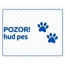 Opozorilna tablica - Pozor, hud pes!