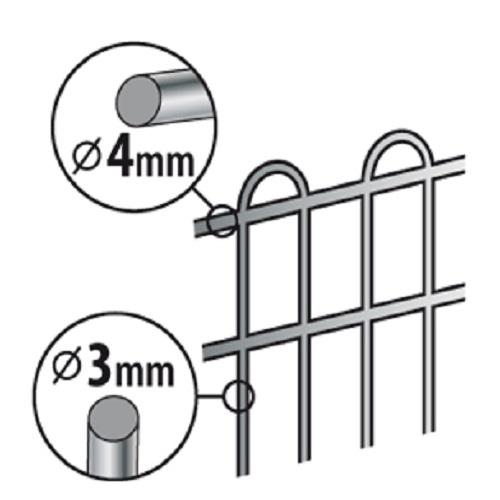 Nobby kovinska ograja za mladiče - 60 x 80 cm
