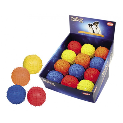 Nobby gumi žoga z zvokom - 6,5 cm