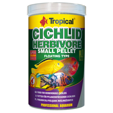 Tropical Cichlid Herbivore Small Pellet - 250 ml / 90 g