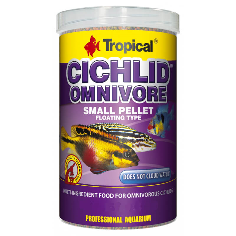 Tropical Cichlid Omnivore Small Pellet - 250 ml / 90 g