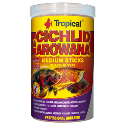 Tropical Cichlid & Arowana Medium Sticks - 250 ml / 90 g