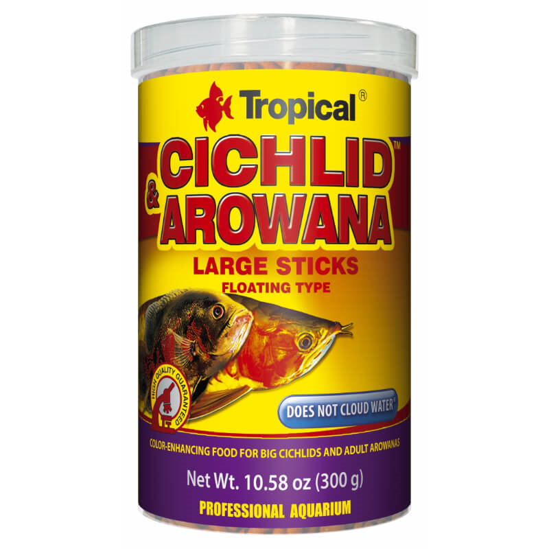 Tropical Cichlid & Arowana Large Sticks - 1000 ml / 300 g