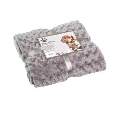 Nobby potovalna odeja Super Soft, svetlo siva - 100 x 150 cm
