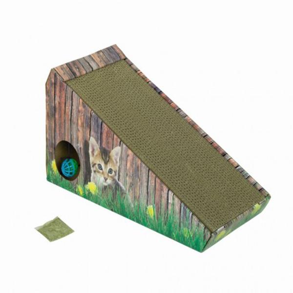 Nobby praskalnik v kartonu z mačjo meto v klanca - 47 x 20 x 26 cm
