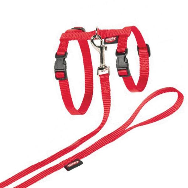 Nobby oprsnica + povodec za muce XL, rdeča
