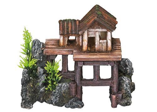 Nobby dekor hiša na stebrih - 15,5 x 8 x 12 cm