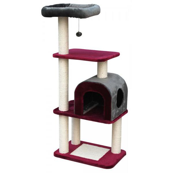 nobby Chogan praskalnik za mačke, rdeč - 137 cm