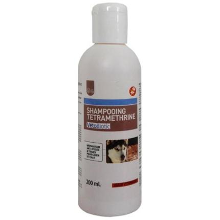VetoBiotic šampon s tetrametrinom (dog parasiticide shampoo) - 200ml