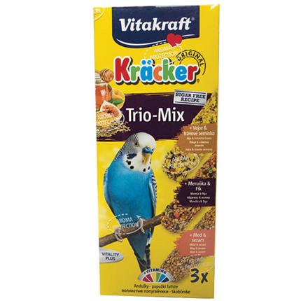 Vitakraft kreker za papige med, jajca in sadje, 3 kos - 80 g
